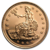 Trade Dollar 1 uncja Copper Round