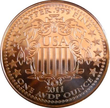 Morgan Dollar 1 uncja Copper Round