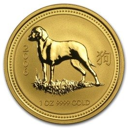 Rok Psa (Year of the Dog) 1 Uncja Złota seria LUNAR I
