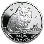 Isle of man Seria koty: Turkish cat 1 Uncja Srebra 1995 Proof